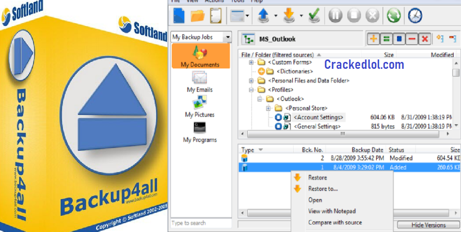 Backup4all Pro 8.7 Crack With Activation Key Full Version Download