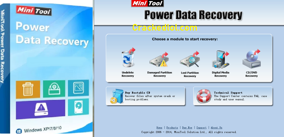MiniTool Power Data Recovery 8.7 Crack With Serial Keygen Download Free
