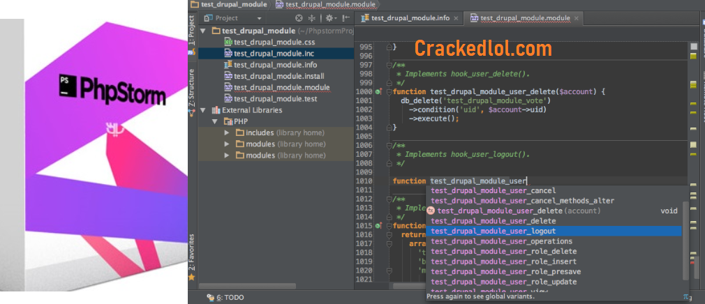 PhpStorm Crack 2021.1.2  With License Key Full Download